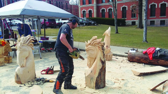 Artistic enterprise chainsaw carvers from germany prove it s a