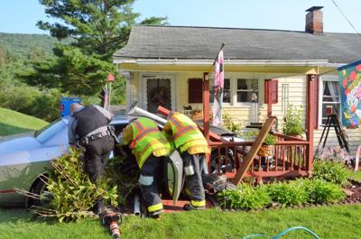 This one vehicle accident occurred Thursday morning at 164 West Warren Road.