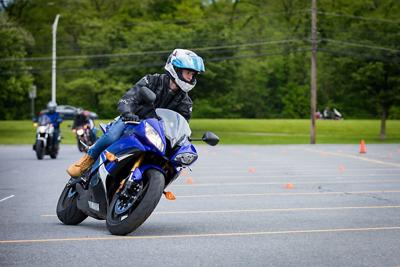 Motorcycle safety obstacle course