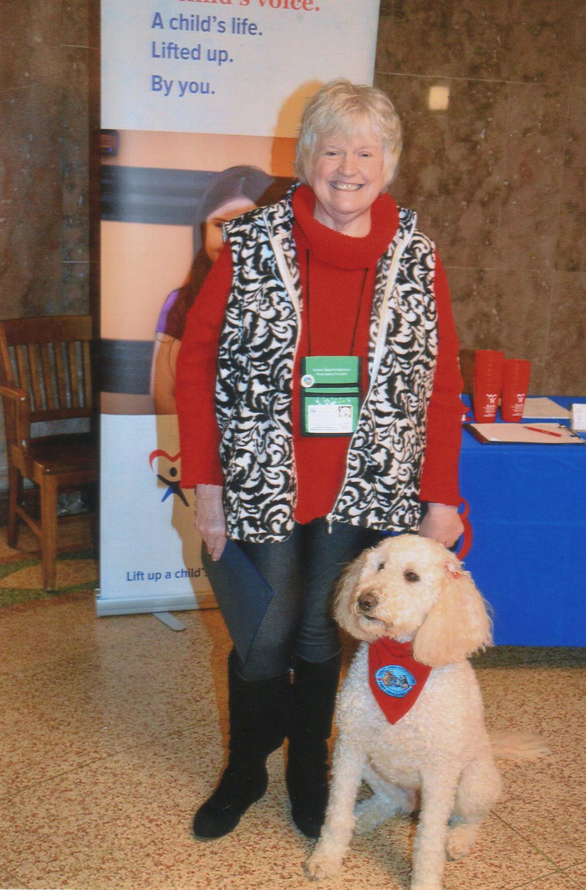 CASA dog and handler