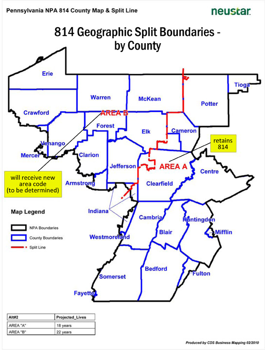 New Area Code To Be Assigned To Some In Area Code District - 814 area code