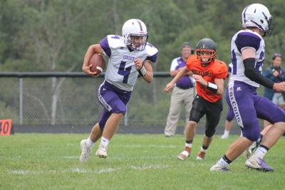 Coudersport flexes muscle on both sides of the ball to roll past Sheffield, 67-6