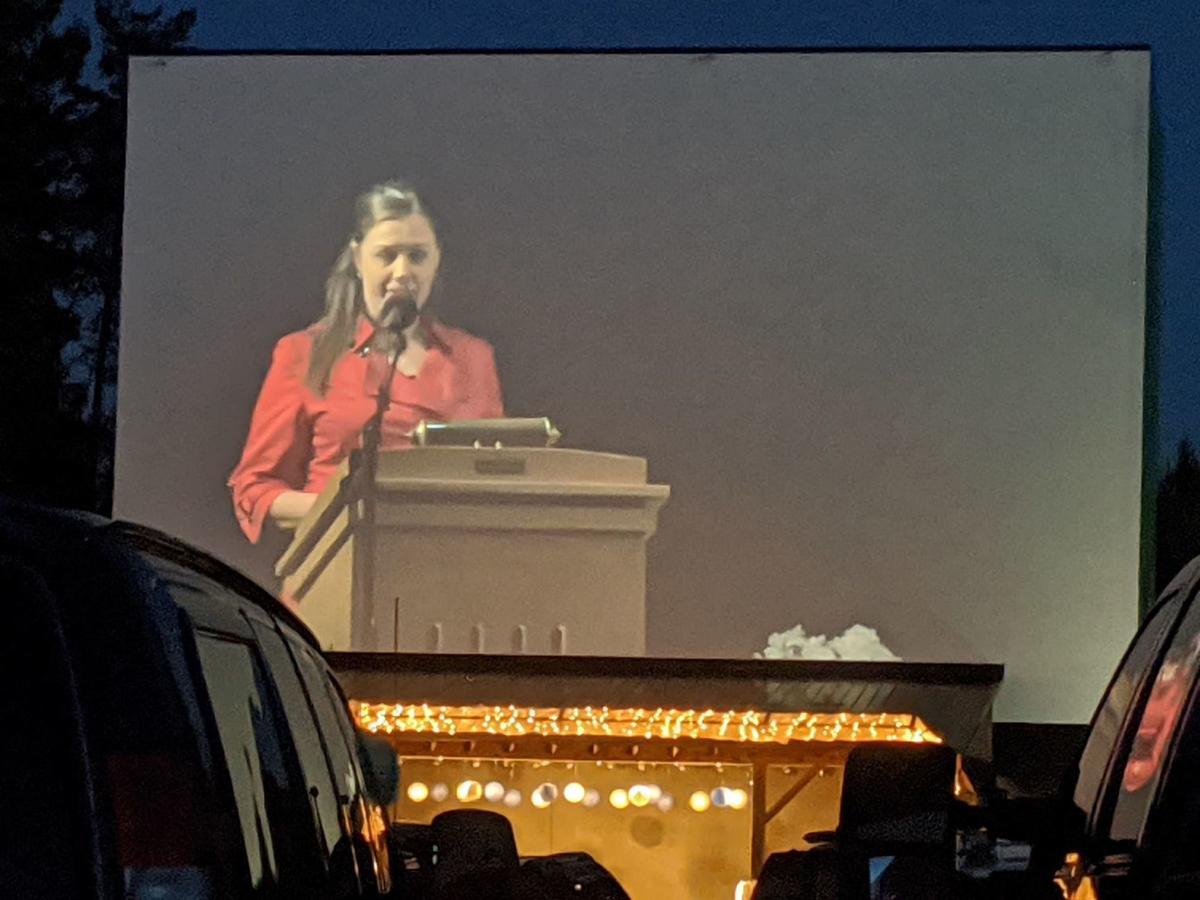 Kane Mayor speaks at graduation