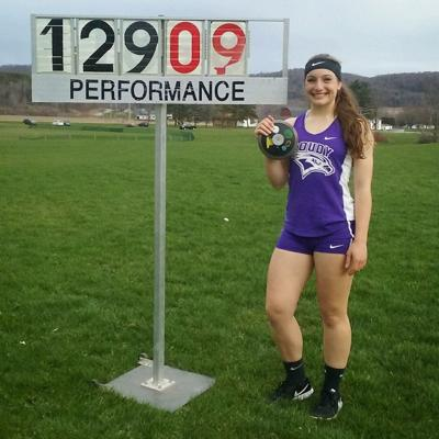 Coudersport's Page enjoying numerous T&F opportunities at D-1 St. Francis