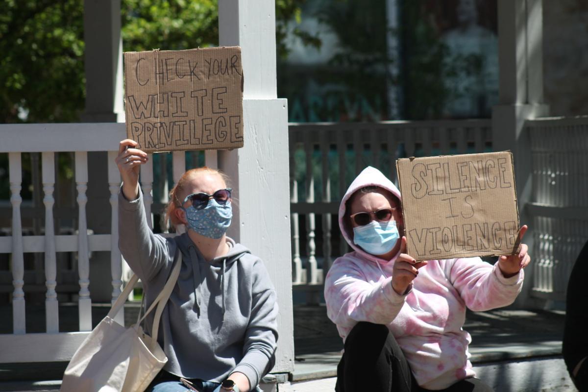 Protesters organize at Veterans Square