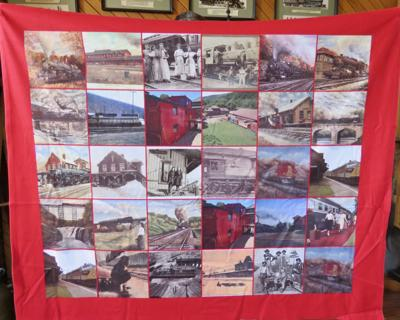 Salamanca Rail Museum to raffle off quilt featuring city's railroad era