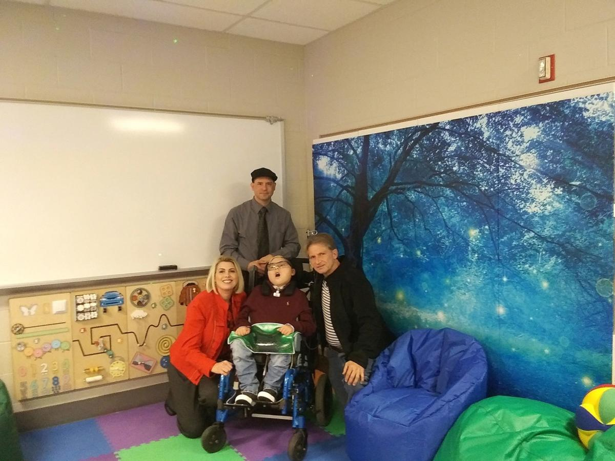 Fretz sensory room gets makeover, thanks to donations from student's family