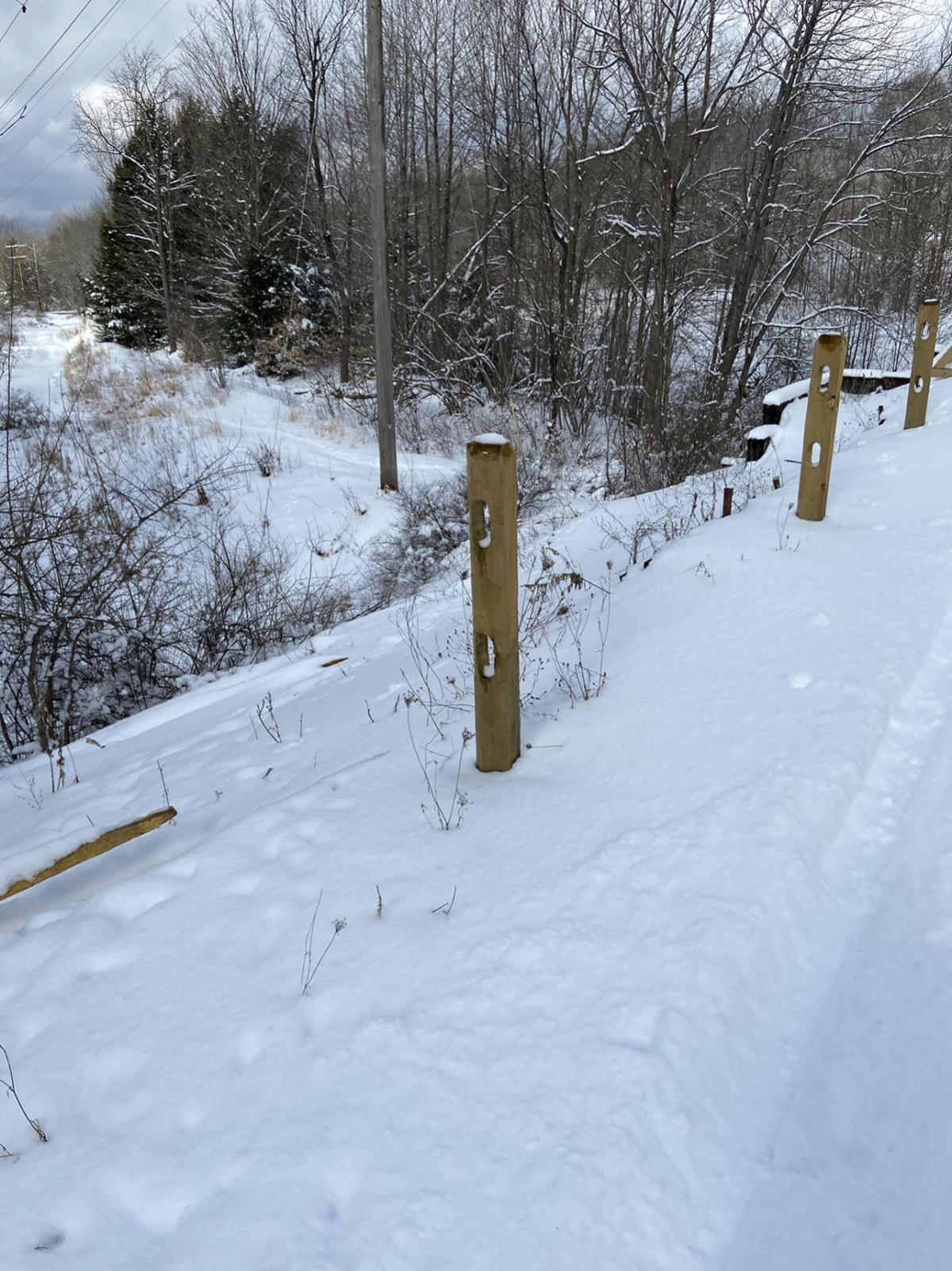 Vandals destroy section of fencing on Knox & Kane Rail Trail