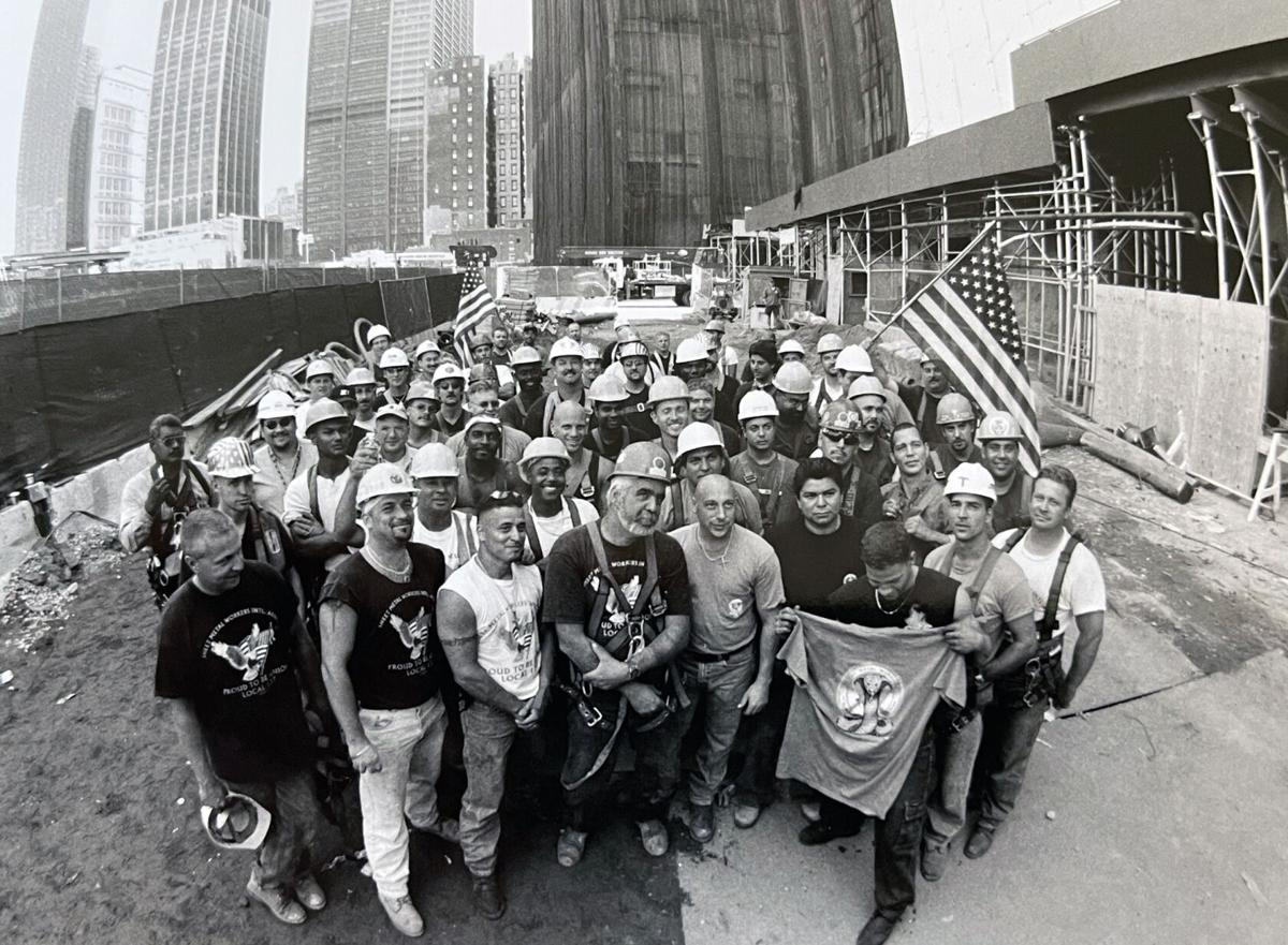 Union workers who installed Yakov's 911 Mural in New York City