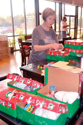 Shoebox Gifts packed