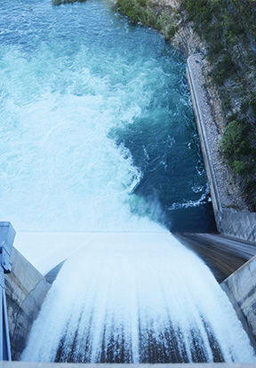 Spillway Gates Open As Generator