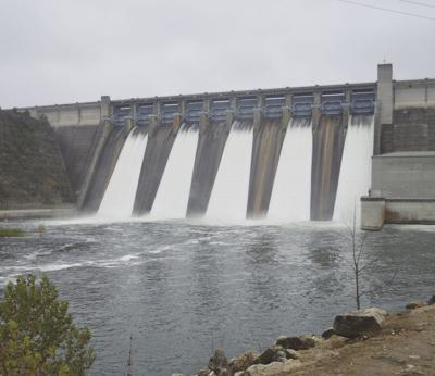 Spillway Gates Opened On Table Rock Dam