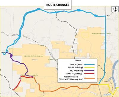 Reminder: Missouri 76 routing changes coming to nson area ... on caltrans state map, tdot state map, indot state map, txdot state map,