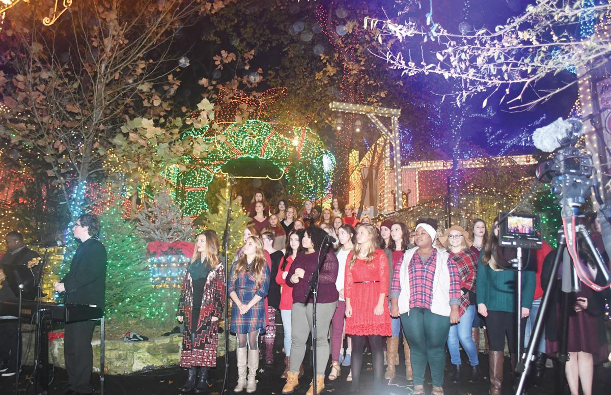 missouri state university womens choir sings during silver dollar citys white glove event friday - Silver Dollar City Christmas