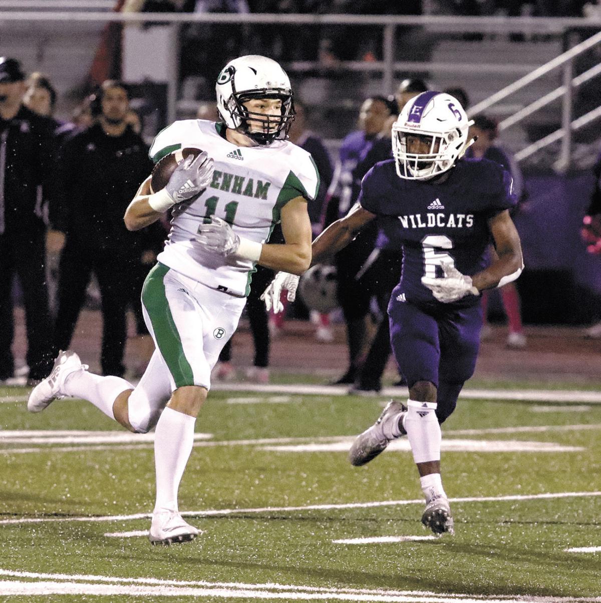 Brenham's Hayden Allen Carries the Football
