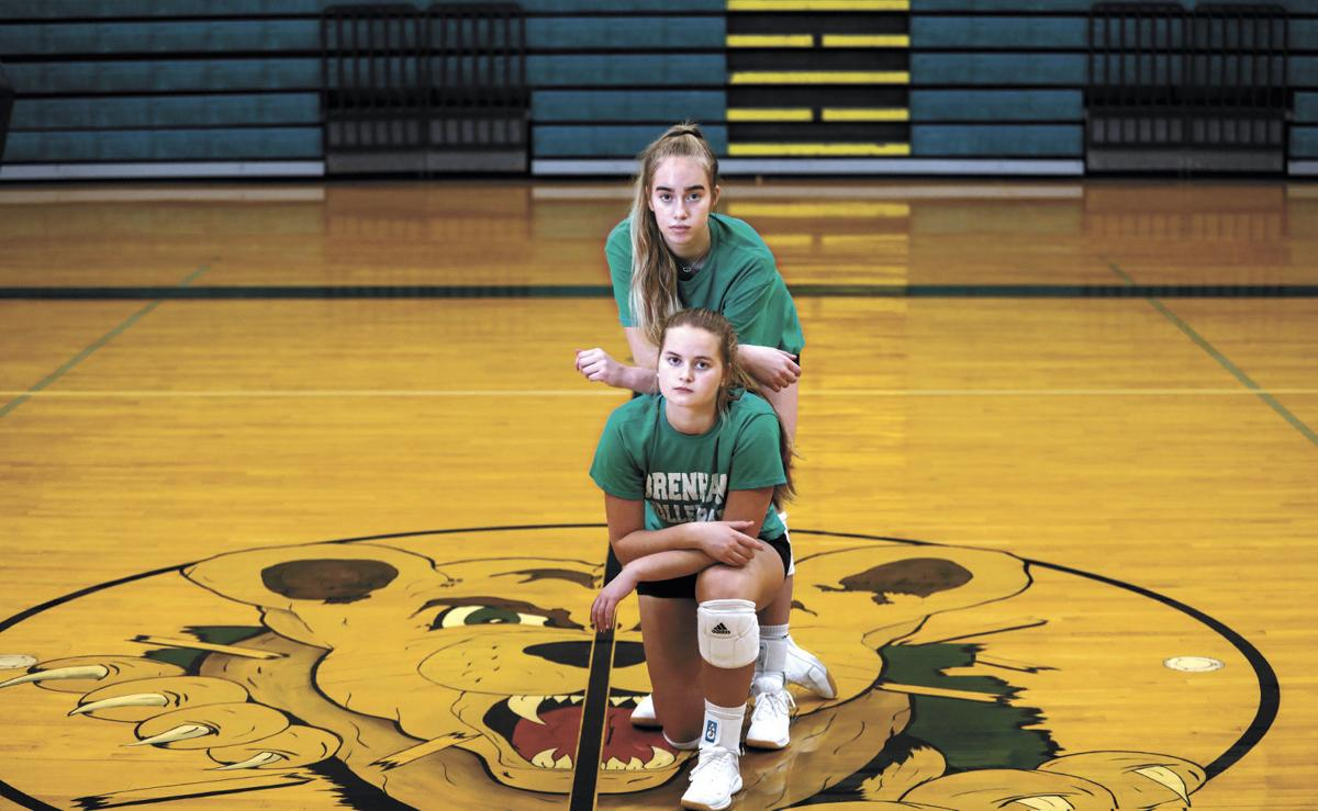 Brenham's Jenna Hardy and Brooke Bentke
