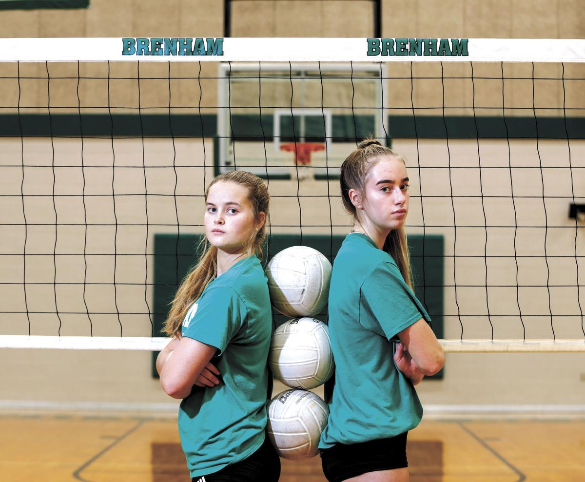 Brenham High School's Jenna Hardy and Brooke Bentke
