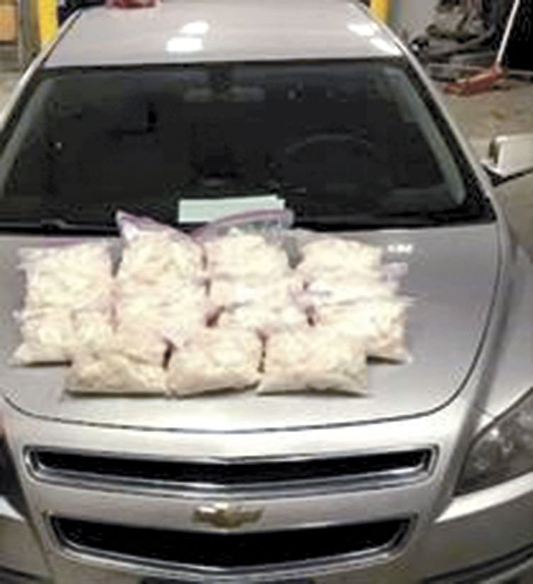 Police seize 15 kilos of methamphetamine