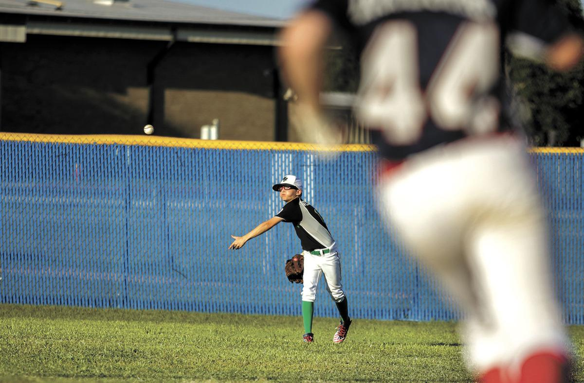 Throw from the outfield