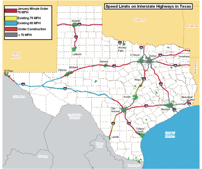 Speed Limits In Texas Map