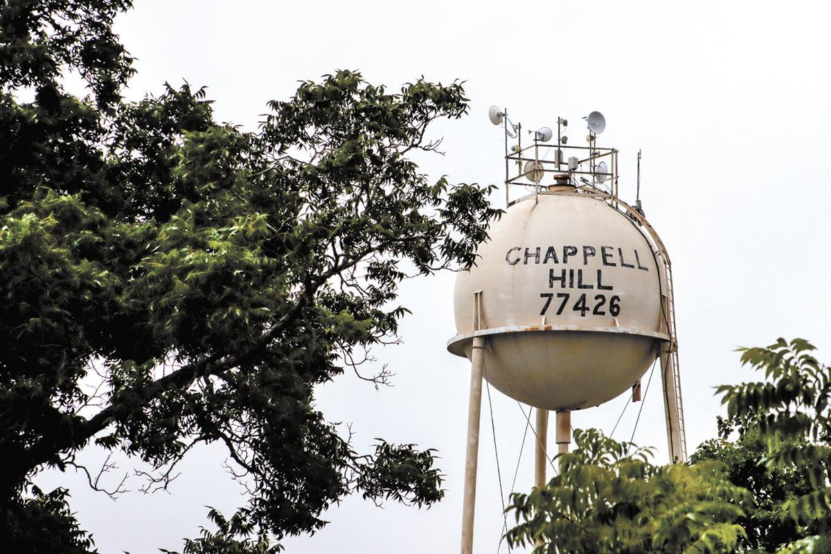 Chappell Hill water tower