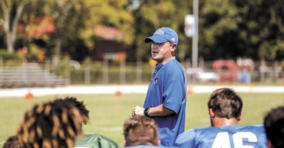 Blinn College football coach Ryan Mahon