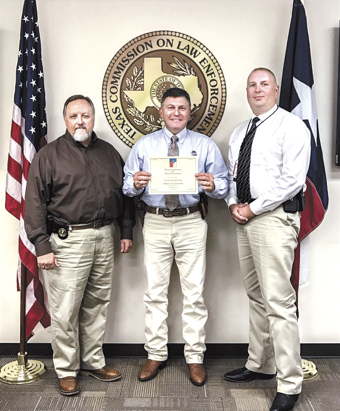 Sheriffs office gets training certification news tcole certification 1betcityfo Images