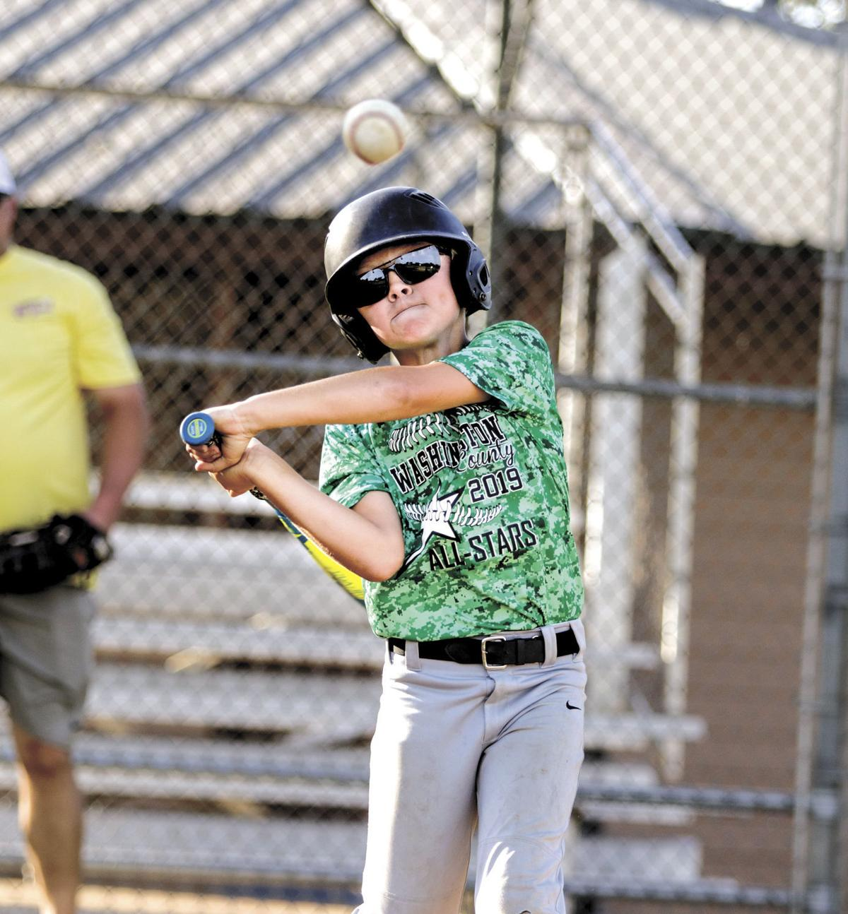 Washington County Little League Minor All-Star Caleb Klussman