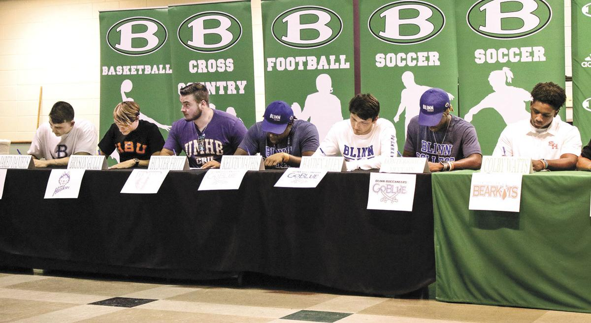 Brenham athletes sign their letters of intent