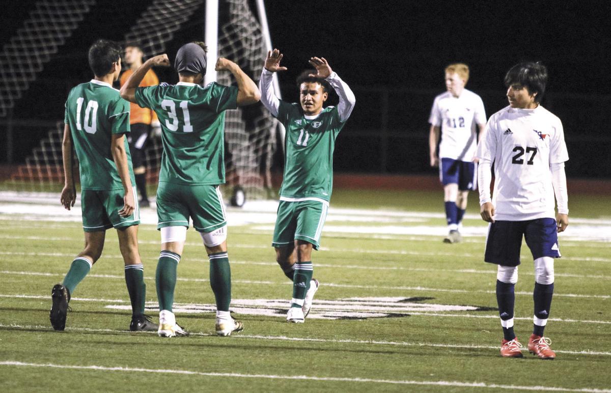 Brenham's Wilson Rodriguez goal celebration