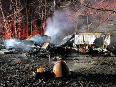 Four fire departments battle blaze