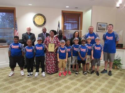 Supervisors recognize winning team