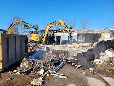 Demolition of former Custom Cleaners