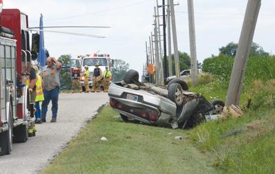One injured in rollover accident