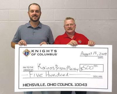 Hicksville K of C donation