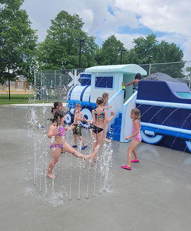 Montpelier pool splash pad