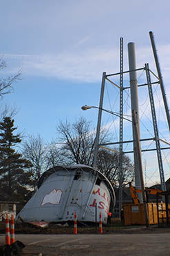 Water tower demolished in West Unity