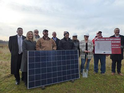 Millcreek-West Unity Schools solar field