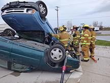Pioneer mock crash