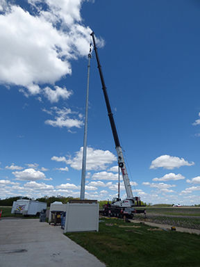 New emergency communications tower erected
