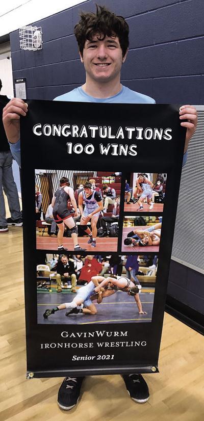 Wurm gets 100th wrestling win