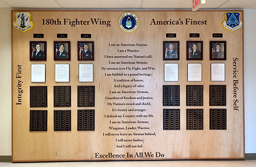 180th Fighter Wing Wall of Honor