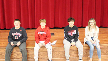 Hilltop Students of the month Junior High