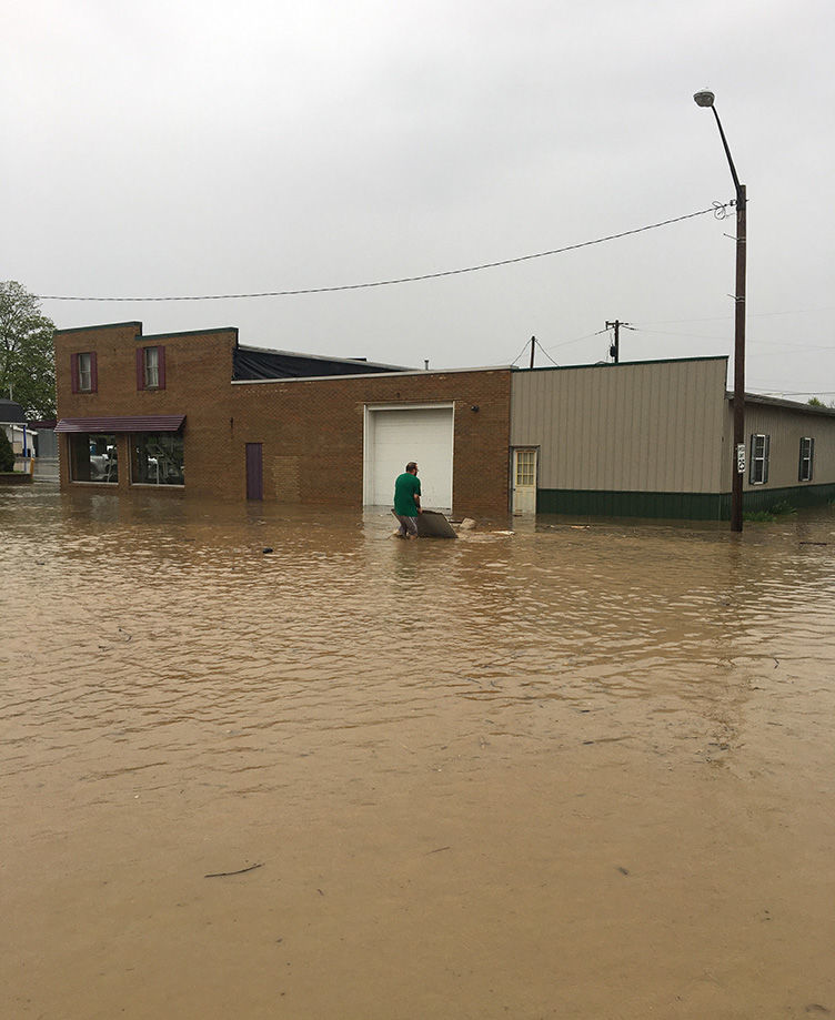 West Unity sees high water