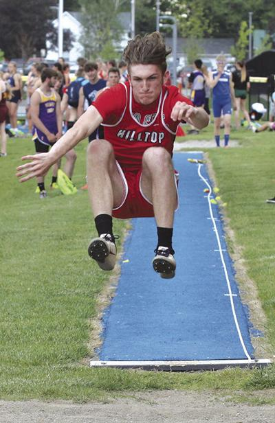 Beltz competes in long jump