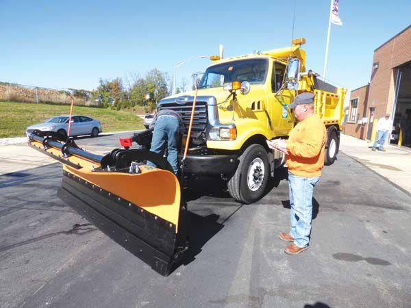 Snow plows readied for season