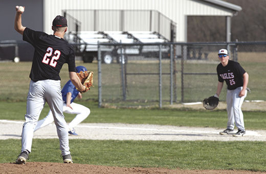 Hayes throws to first