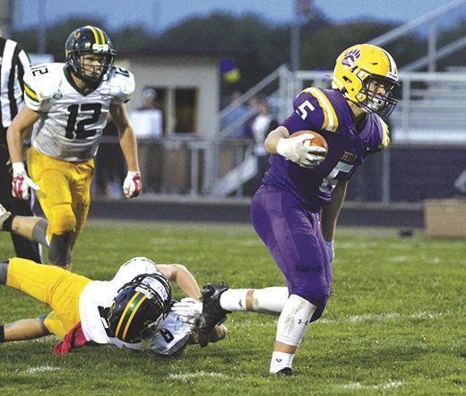Herold breaks tackle