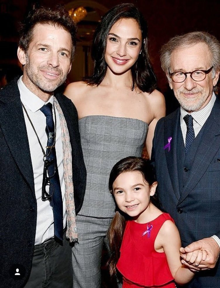 Brooklynn Prince poses with Hollywood icons