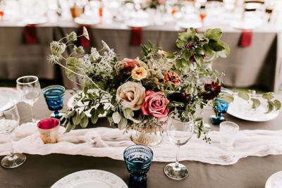 Fran and Jesse tablescape